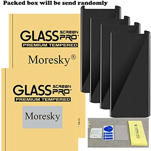 Compatible for Samsung Galaxy S8 Plus (Not for S8) Screen Protector Privacy Anti-Spy, Moresky S8+ Tempered Glass 3D Curved Edge Case Friendly Film (4 pcs) by Moresky (Image #6)