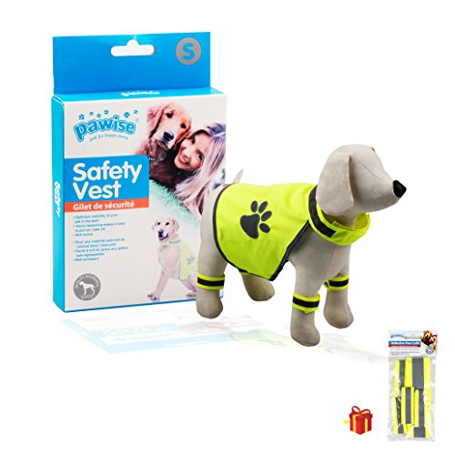 e Vest, Dog Safety Vest Protects with Adjustable Strap Florescent Reflectors (Better Neon Clock)