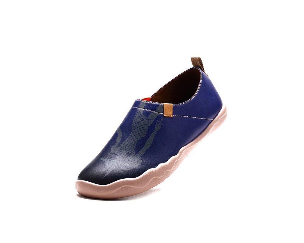UIN Men's Anubis Painted Leather Loafer Shoe Blue (9)