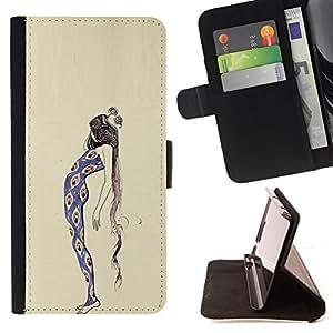 """For Samsung Galaxy J1 J100,S-type Peacock Chica Mujer vestido de la manera"""" - Dibujo PU billetera de cuero Funda Case Caso de la piel de la bolsa protectora"""