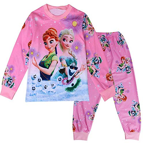 WNQY Little Girls Anna Costume Toddler Christmas Pajama Set (100/3-4Y,Pink)]()