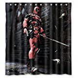 X Men Cool Deadpool Custom Waterproof Shower Curtain Bathroom Curtains 60x72 inches