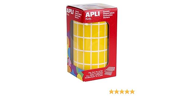 blau rot gelb und gr/ün 20 x 20 mm 4er Pack Rollen Gomets quadratisch 4 Farben APLI Kids 18326