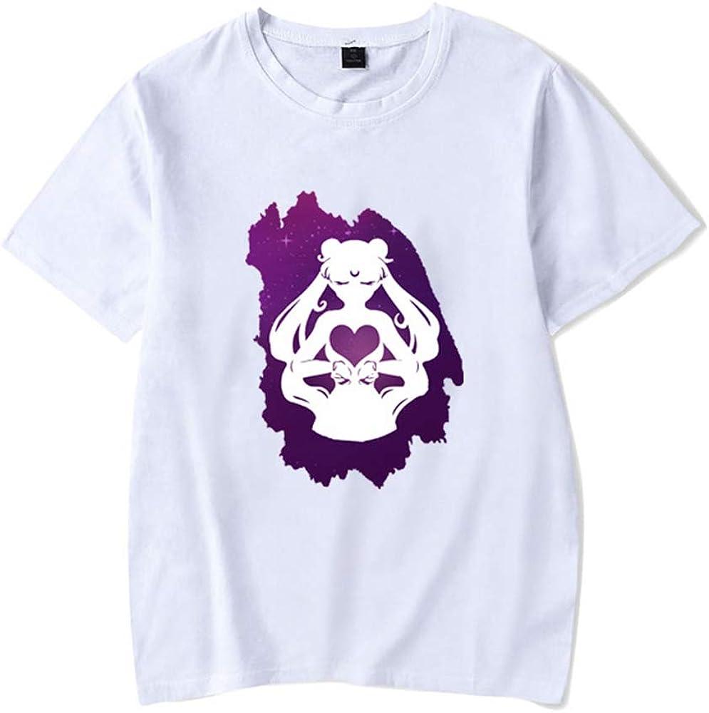 Sailor Moon Camiseta Unisex Japón Anime Imprimir Camisetas de Manga Corta School Girls Camisetas Blancas: Amazon.es: Ropa y accesorios