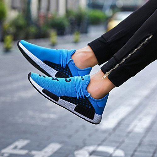 KUXIE Running Sneakers Sport Shoes Mens Mens Womens Shoes Summer Shoes Trainers Fashion Blue Breathable Casual qAgfwBxq