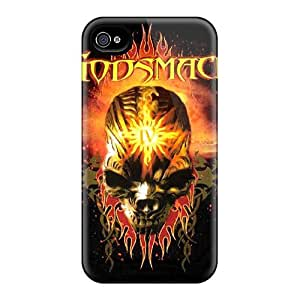 Shock-Absorbing Hard Cell-phone Cases For Iphone 4/4s With Custom Vivid Godsmack Image JasonPelletier hjbrhga1544