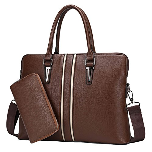 Pour Main Hommes Sac Business à Grand documents brown Pack Messenger Format Shoulder Porte qXwaSv