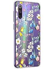 Oihxse Mandala Flores Encaje Patrón Serie Case Compatible con Sony Xperia 5 Funda TPU Silicona Suave Protector Ultra Slim Anti-Rasguño Transparente Carcasa (A18)