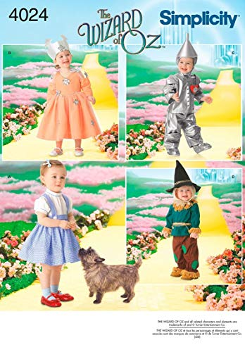 Simplicity The Wizard Of Oz Kid's Costume Sewing Patterns, Toddler Sizes 1/2-5 -