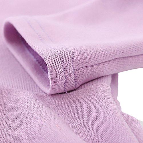 Girls' Ruffle Long ZHUOTOP Candy Sleeve Purple Color Dress Princess Baby Fqpw1