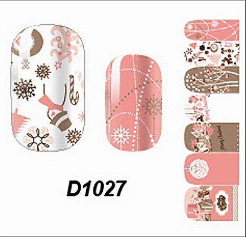 1 Pcs Swanky Foils Glitter Manicure Wraps Multi Mix Popular Nail Art Stickers Style Code D1027