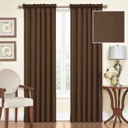 Eclipse Samara Blackout Energy-Efficient 42 x 63 Curtain Panel, Set of 2 – Espresso