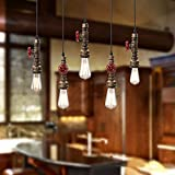 WINSOON 3 Pack Antique Pipe Light Fixture Rustic