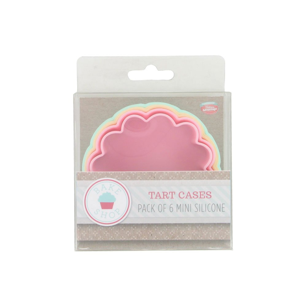 Bakers Advantage Set Of 6 Assorted Silicone Tart Cases