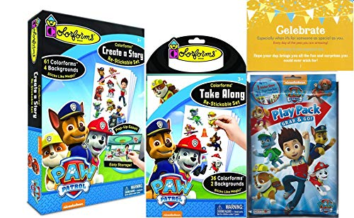 Colorforms Paw Patrol Create a Story, Take Along Restickable Set