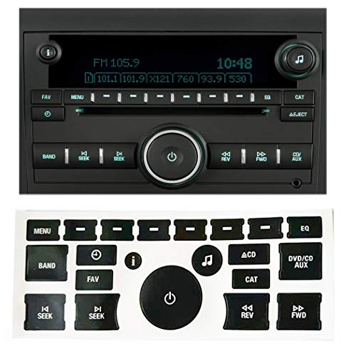 StyleZ GM Radio Button Repair Decal Sticker Set Radio Repair Kit Dash Replacement for 2007-2015 GM Vehicles Ruined Peeling Faded Chipped Scratched Radio Buttons Suit for Tahoe, Yukon, Denali, Silvera ()