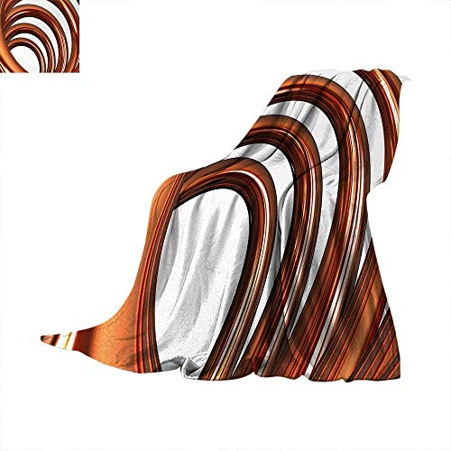 (Anhuthree Abstract Super Soft Lightweight Blanket Helix Coil Curved Spiral Pipe Swirled Shape on White Backdrop Print Summer Quilt Comforter 90