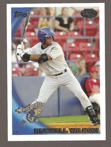 2010 TOPPS PRO DEBUT #435 Rookie rc RUSSELL WILSON ROOKIE CARD RC - BASEBALL ! SEAHAWKS