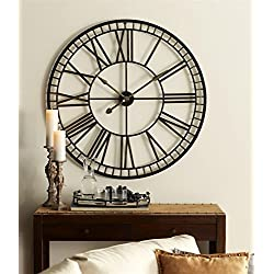 40 Black and Gold Battery Operated Over-sized Classic Metal Wall Clocks