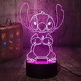 New Cartoon Cute Stitch Figure Friends 3D LED Night