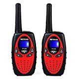 Toys : Retevis RT628 Kids Walkie Talkies 22 Channel FRS Toy for Kids UHF 462.550- 467.7125MHz 2 Way Radio Toy(Red,2 Pack)