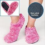 Amazon Com Fuzzy Footies Women S Slip Resistant Slippers