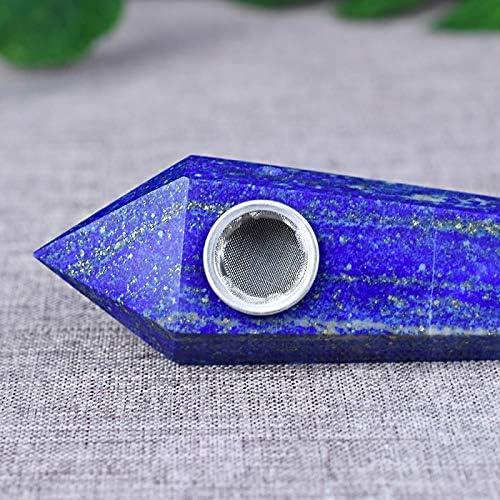 ブルー六角プリズムパイプとユニークなデザイン、2つのフィルタと1ブラシ付き石英管