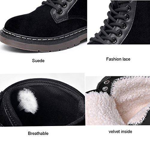 Botas Boots Mujer Moda Gamuza Antideslizante Marrón Invierno Martin Para Impermeable Botines Retro xwfpnqp