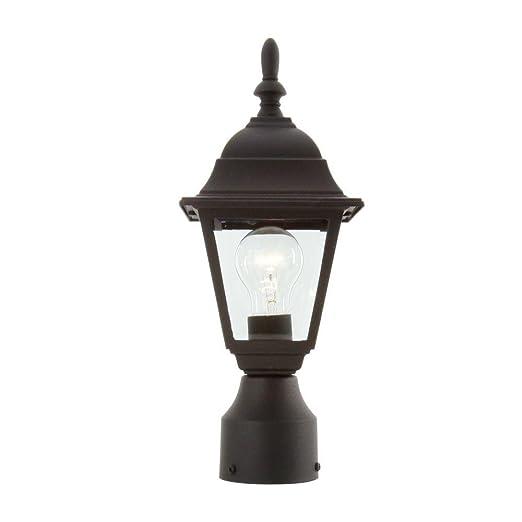 Amazon hampton bay 1 light black outdoor lamp landscape path hampton bay 1 light black outdoor lamp workwithnaturefo