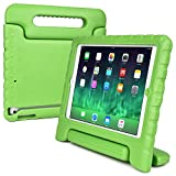 Apple iPad Mini 3 2 1 kids case, [2-in-1 Bulky Handle: Carry & Stand] COOPER DYNAMO Rugged Heavy Duty Children's Cover + Handle, Stand & Screen Protector - Boys Girls Elderly (Green)