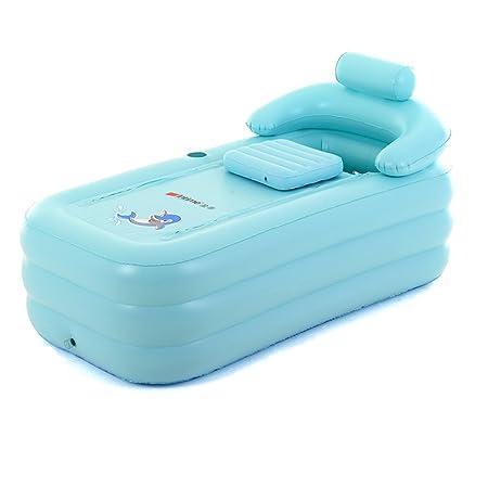 LYM & bañera Plegable Bañera Bañera Hinchable para Adultos ...
