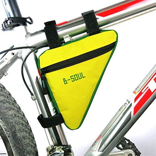 SMILEQ Marco de Accesorios para Bicicletas Bolsa de Tubo Frontal Ciclismo de Bicicleta Estuche para Bolsa Porta alforjas (Amarilla): Amazon.es: Deportes y aire libre
