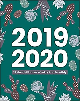 Unl Academic Calendar 2020 2019  2020 19 Month Planner Weekly and Monthly: Daily Calendar