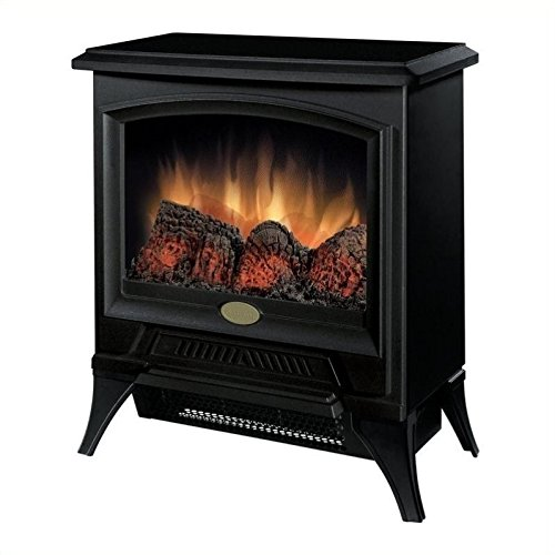 BOWERY HILL Electric Fireplace Stove Heater in Black by BOWERY HILL