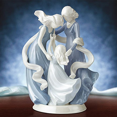Love Carries On 3 Generations Grandmother Mother Daughter Heirloom Porcelain Figurine ()