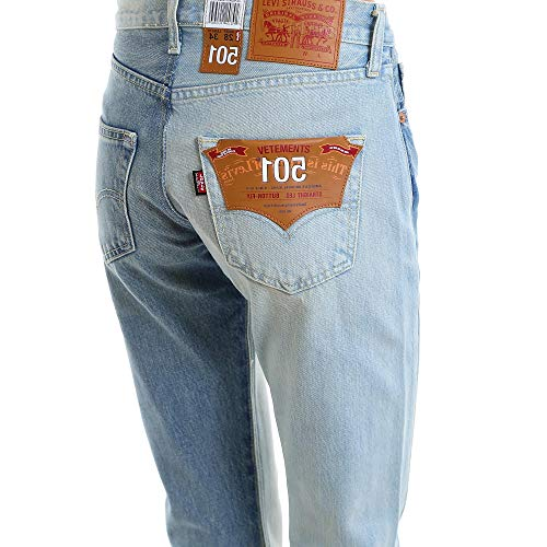 Femme Bleu Claire VETEMENTS WSS18PA2BLUE Jeans Coton Yax0nw