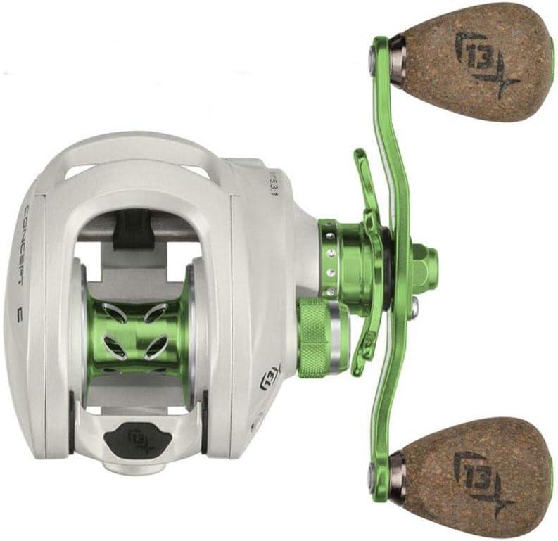 Lime//Silver 13 Fishing Green Machine Reel Kit
