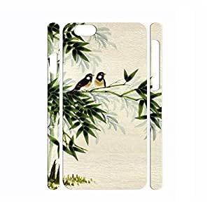 Hipster Dustproof Handmade Chinese Painting Bamboo and Animal Pattern Phone Shell for Iphone 6 Plus Case - 5.5 Inch