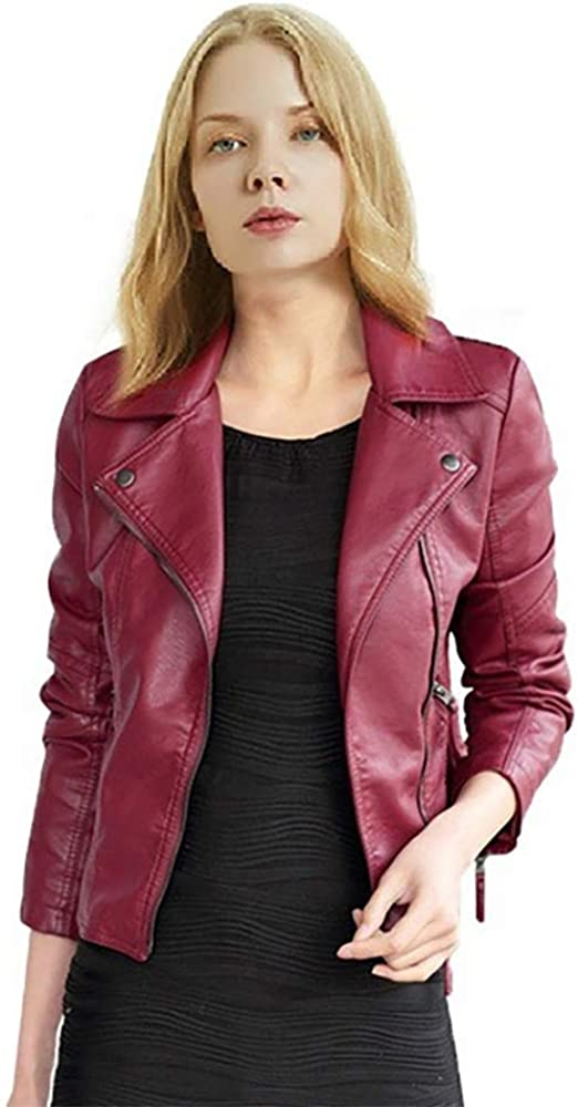 StMandy Girls Riverdale Jackets Women Slim Leather Serpents Jacket Black and red Good Gift for Kids Teens-3