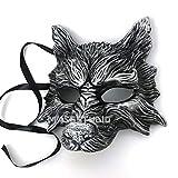 MasqStudio Black Silver Wolf Mask Animal Masquerade Halloween Costume Cosplay Party mask