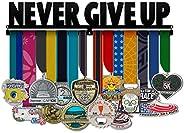 Never Give Up - Motivational Sports Medal Hanger, Running Triathlon Swimming