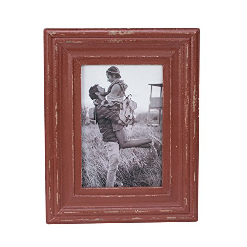Foreside Home & Garden FFRD06231 4X6 Dalton Photo Frame Red