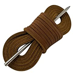 REPLACE Replace your boat shoes and moccasins laces with colorful leather boat shoe laces and a leather lacing needle CUSTOMIZE Use colored straps to customize your boat shoe adding a special flair to your look. Use your replacement boat shoe...