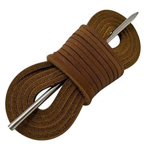 Boat Shoe Laces Leather By TOFL (Brown) Brown Leather Boat