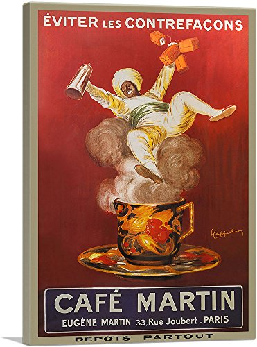 ARTCANVAS Cafe Martin 1921 Canvas Art Print by Leonetto Cappiello – 40 x 26 0.75 Deep