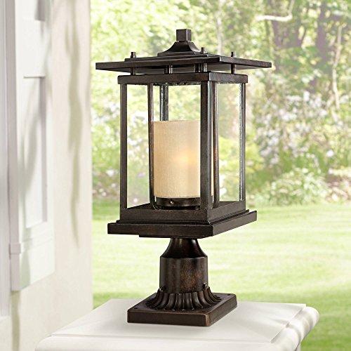 (Foxmoore Modern Outdoor Post Light Bronze Pagoda 17