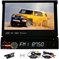 Vehicle Headunit Multimedia GPS Autoradio Electronics MP5 DVD Player In Deck Car Video Stereo single din LCD Screen logo iPod Remote control Aux Wireless Rear View Camera