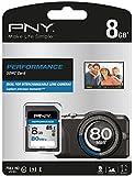PNY Carte mémoire SDHC Performance 8 Go Classe 10 avec une vitesse de lecture allant jusqu'à 80 Mb/s