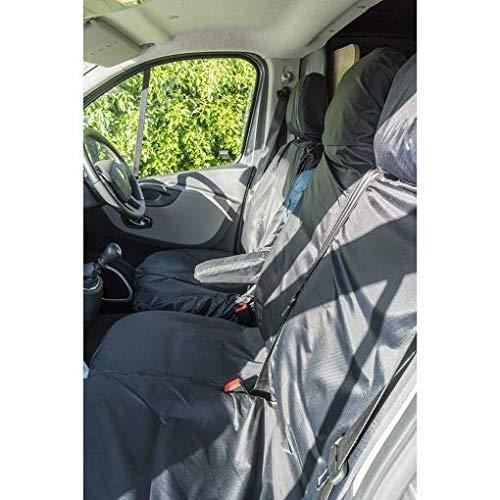 UKB4C Trafic 2014 On Fully Tailored Extra Heavy Duty Van Seat Covers Black Waterproof