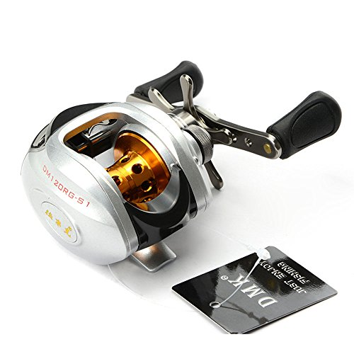 Docooler 10BB 6.3:1 Right Hand Bait Casting Fishing Reel 9Ball Bearings + One-way Clutch High Speed (Right)